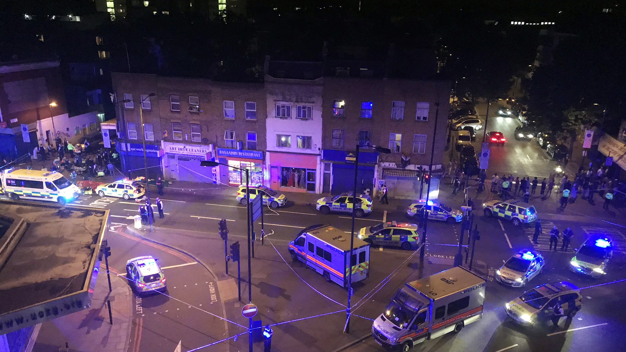Vehicle strikes pedestrians in north London, several injuries reported